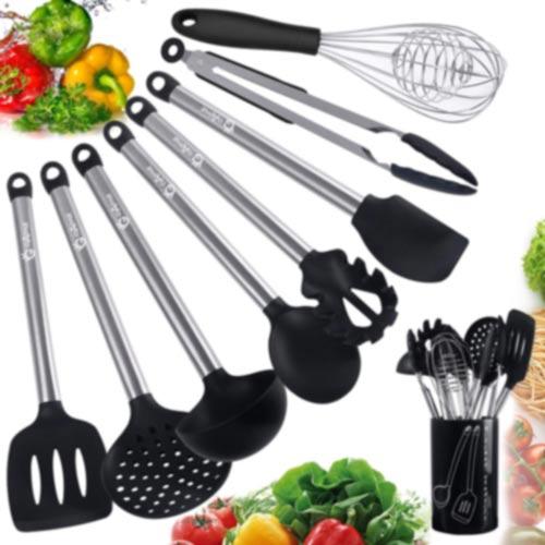 GOAMZ-9-Pezzi-Utensili-da-Cucina,Set-Utensili-Cucina-Silicone-AntiGraffio
