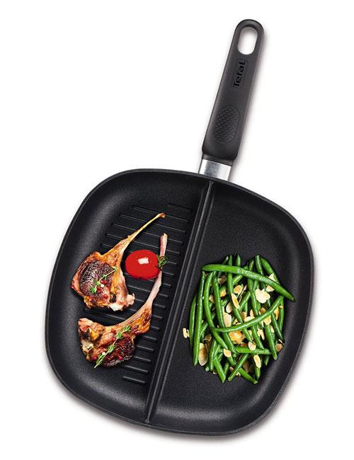 padella-antiaderente-tefal-2-parti-un-compartimento-grill-per-una-carne